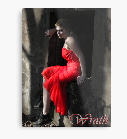 Sin #2- Wrath Metal Print