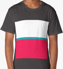 Pink and blue colorblock Long T-Shirt