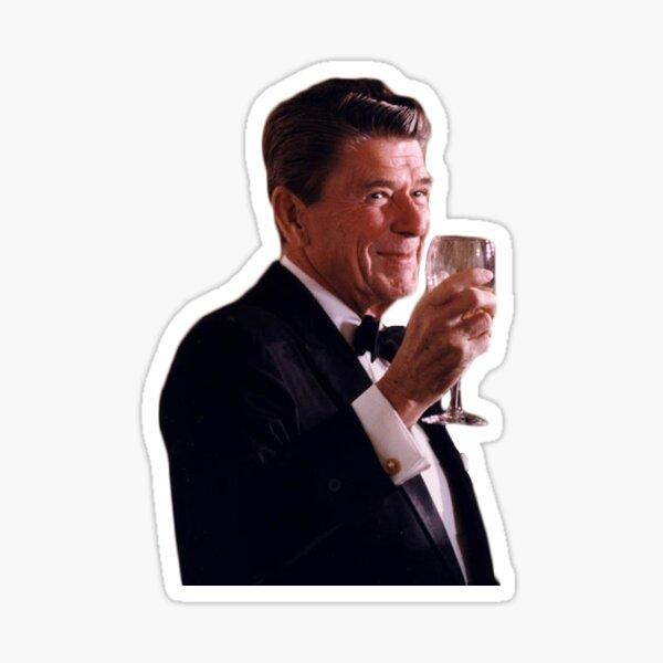 Ronald Reagan Cheers Sticker