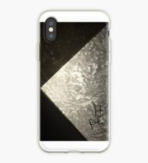 View through Frozen Window Abstract .Doctor Faustus Photography . 18.12.2018. iPhone Case