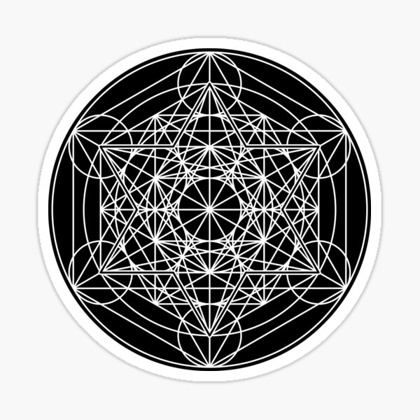 Metatron's Cube Expanded 003 Sticker