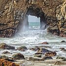 Sea Cave at Pfeiffer Beach - California USA by TonyCrehan
