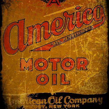 Americo Motor Oil New York CITY by midcenturydave