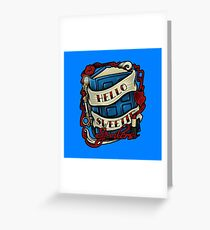 Hello Sweetie (pillow) Greeting Card