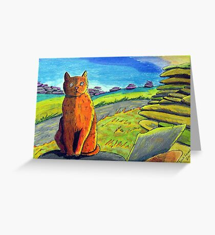 289 - LEFT BY THE ROADSIDE - DAVE EDWARDS - COLOURED PENCILS & INK - 2010 Greeting Card