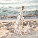 Happy New Year Message in a Bottle by Maria Dryfhout