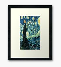 Starry Night Tardis Framed Print