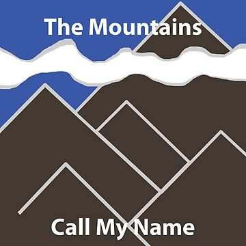 Abstract Mountain Design Mountains Call My Name - brown & blue by JoannieKayaks