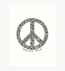 Peace Man Design Art Print