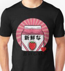 Cool Japanese Manga Style Milk Design Unisex T-Shirt