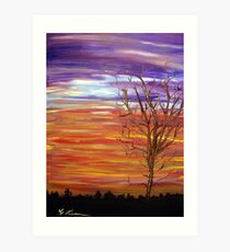 Colorful Streaks of Sunset Clouds Art Print