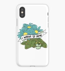 I WANNA GO HOME iPhone Case/Skin
