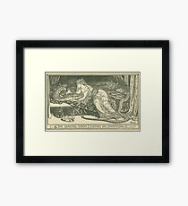 Vintage Fairy Tale Illustrations: The Enchanted Snake Framed Print