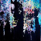 Hopeful - an original abstract acrylic painting by Minxi by Kari Sutyla