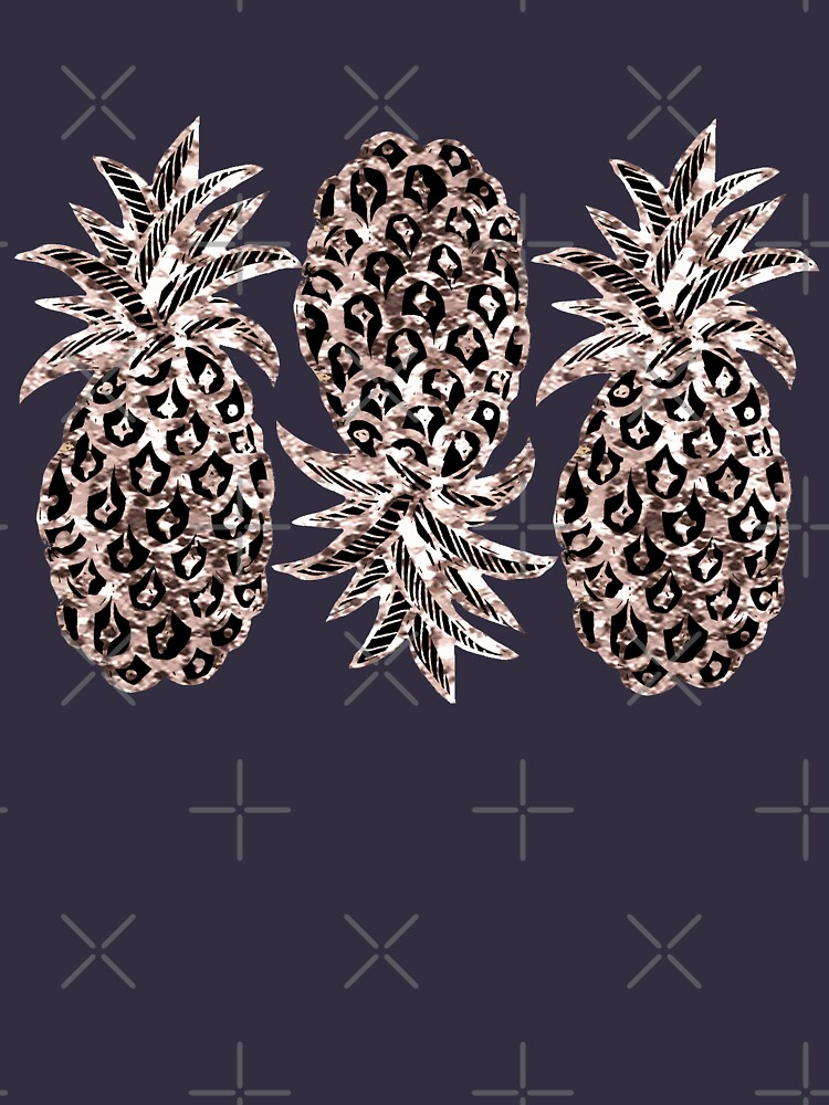 Rose Gold Sparkle Pineapple by MagentaRose