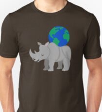 Earth Day Rhinoceros Unisex T-Shirt