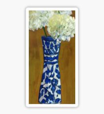 Blue and White Vase Sticker