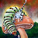 Smoking Caterpillar by whiterabbitart