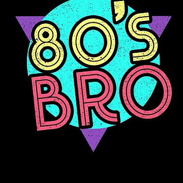 80s Bro Retro Party Neon Costume Outfit 1980s by kieranight