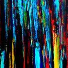 Vigilantes - original abstract acrylic painting by Minxi by Kari Sutyla