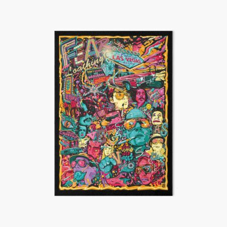 Fear and Loathing in Las Vegas Art Board Print
