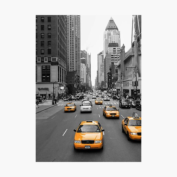 New York Taxis Photographic Print