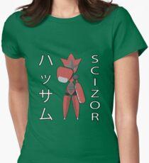 Mega Scizor Fist-Bump! Womens Fitted T-Shirt