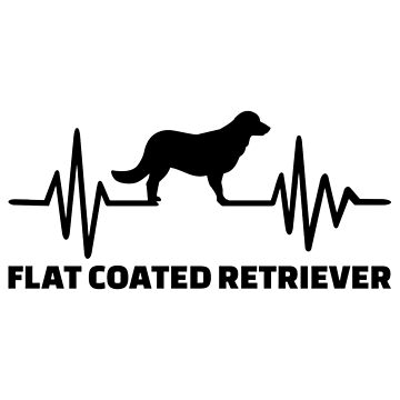 Heartbeat Flat Coated Retriever by Designzz