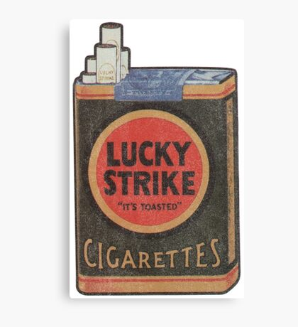 Lucky Strike It's Toast Cigarettes  Canvas Print