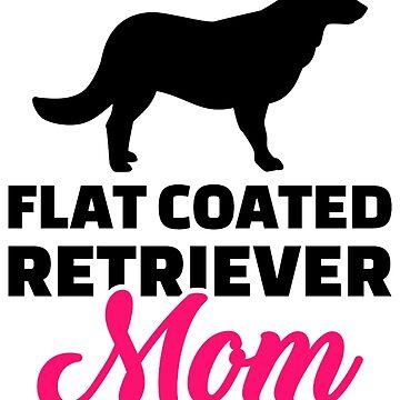 Flat Coated Retriever mom by Designzz