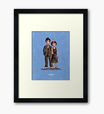 The Doctor & Donna Framed Print