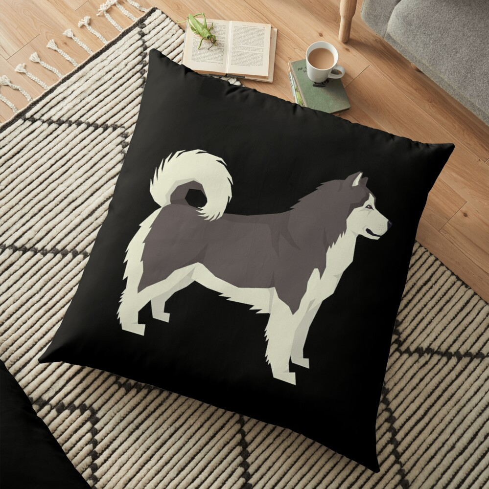 Alaskan Malamute - Gift For Alaskan Malamute Owner Lover Floor Pillow