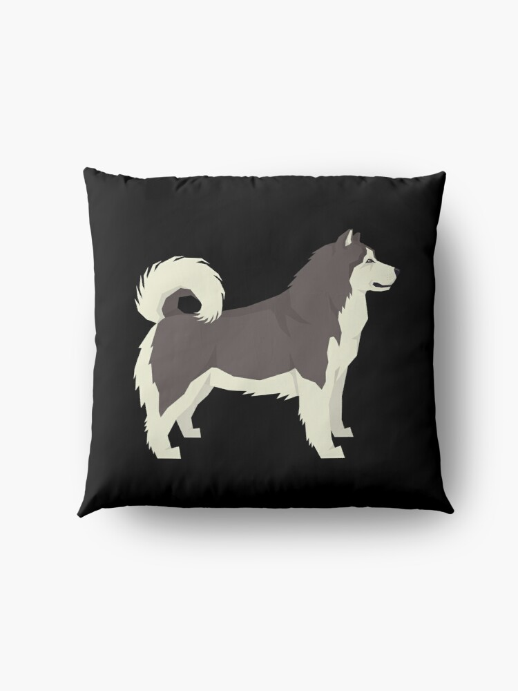 Alternate view of Alaskan Malamute - Gift For Alaskan Malamute Owner Lover Floor Pillow