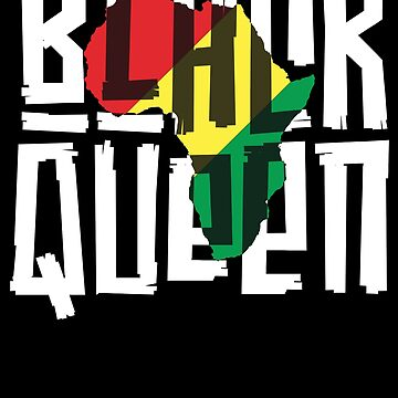 Black Queen T-Shirt for Women Girls History Month Africa by 14thFloor
