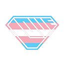 Love SuperEmpowered (Blue, Pink & White) by Carbon-Fibre Media