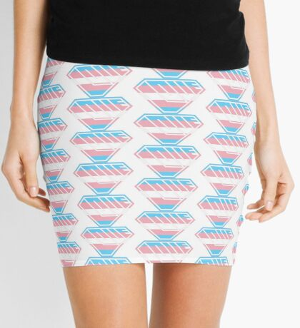 Love SuperEmpowered (Blue, Pink & White) Mini Skirt