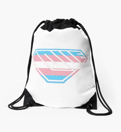 Love SuperEmpowered (Blue, Pink & White) Drawstring Bag