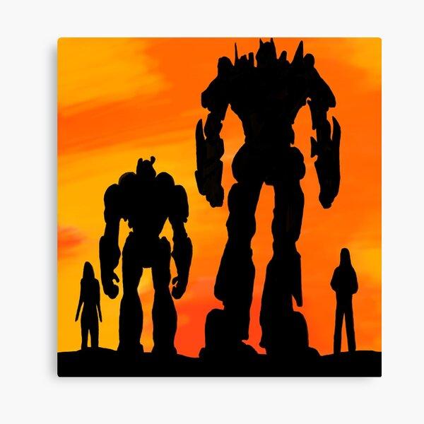 Optimus & Bumblebee Sunset Canvas Print
