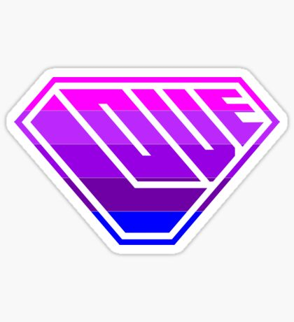 Love SuperEmpowered (Light Pink, Purples & Blue) Sticker