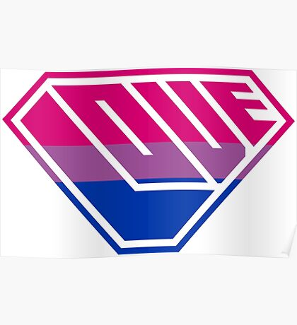 Love SuperEmpowered (Pink, Purple & Blue) Poster