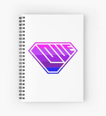 Love SuperEmpowered (Light Pink, Purples & Blue) Spiral Notebook
