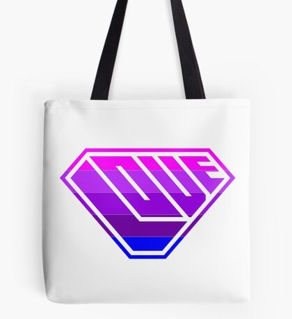 Love SuperEmpowered (Light Pink, Purples & Blue) Tote Bag