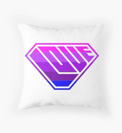 Love SuperEmpowered (Light Pink, Purples & Blue) Throw Pillow