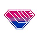 Love SuperEmpowered (Pink, Purple & Blue) by Carbon-Fibre Media