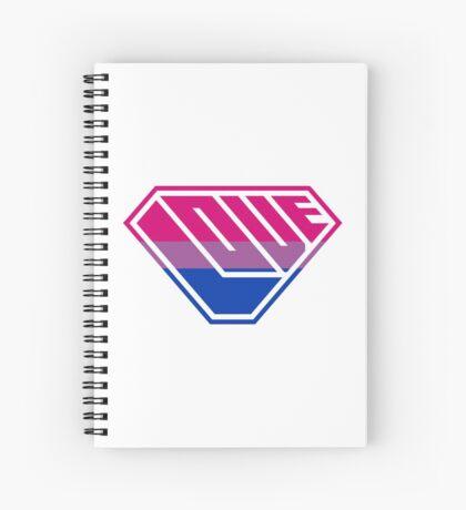Love SuperEmpowered (Pink, Purple & Blue) Spiral Notebook