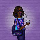 Modern African Woman- Cool Ankara Denim. by cardwellandink