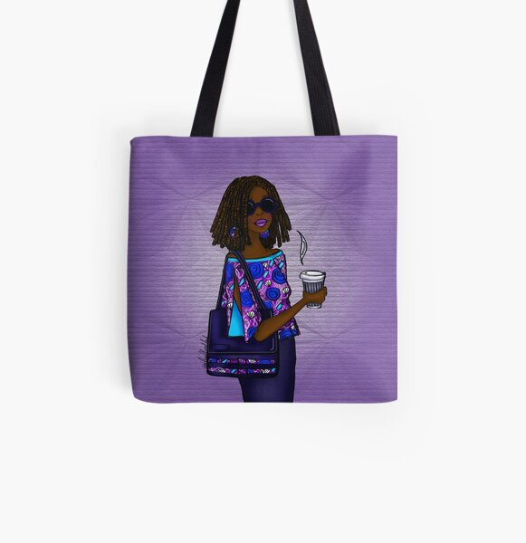 Modern African Woman- Cool Ankara Denim. All Over Print Tote Bag