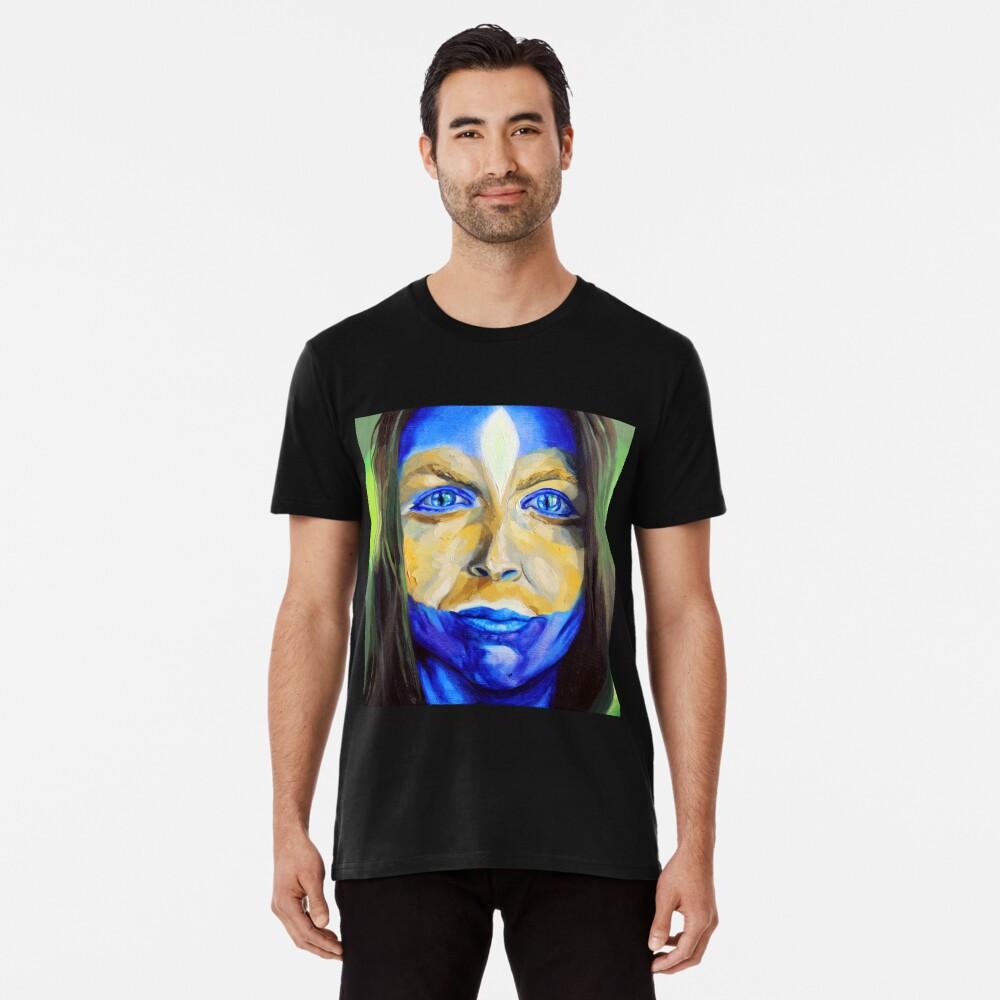 Blue Download (self portrait) Premium T-Shirt