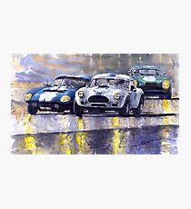 Duel AC Cobra and Shelby Daytona Coupe 1965 Photographic Print
