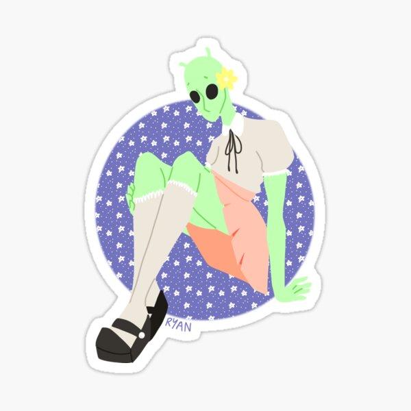 Lonely Alien Sticker